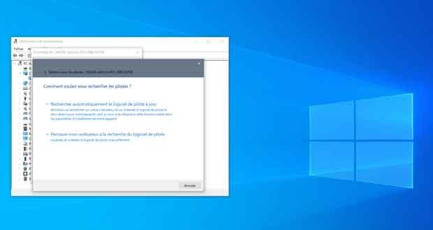 Windows 10 - Gestionnaire de périphériques